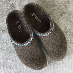 Haflinger Gray Wool Clogs Size 44EU / 13US for sale